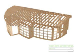 Estructura 3D Andrés y Graciela. MINKA Bioconstrucción y Alen y Calche